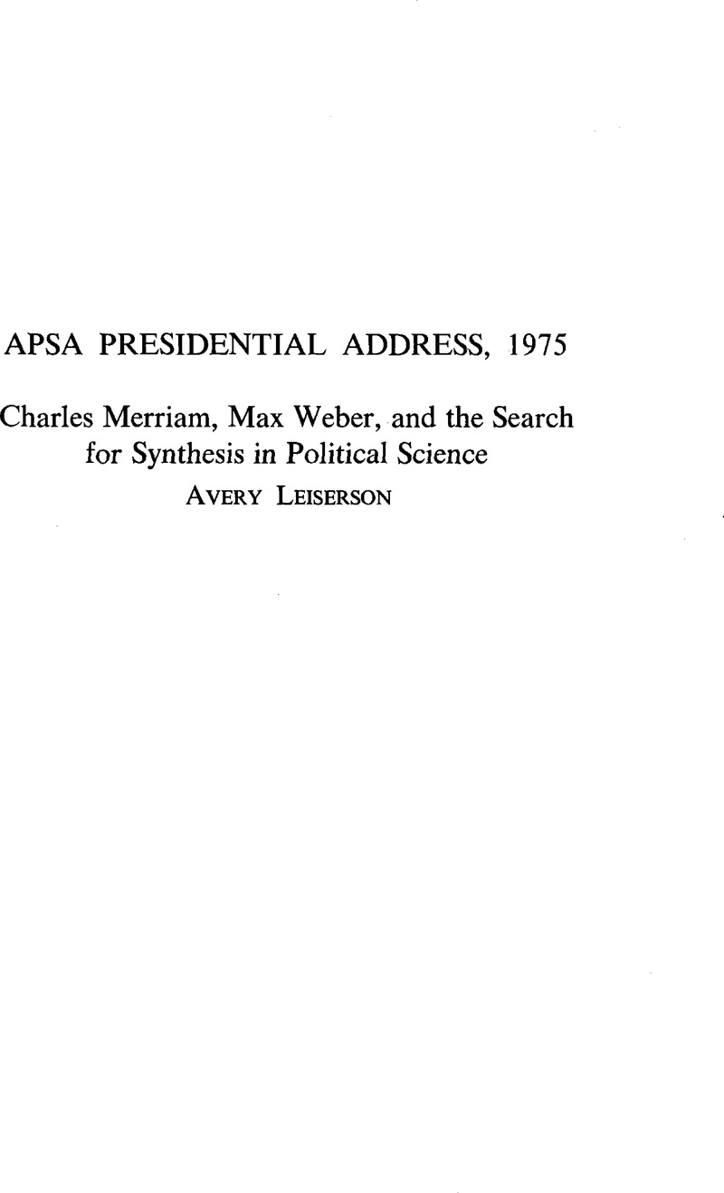 american political science review citation
