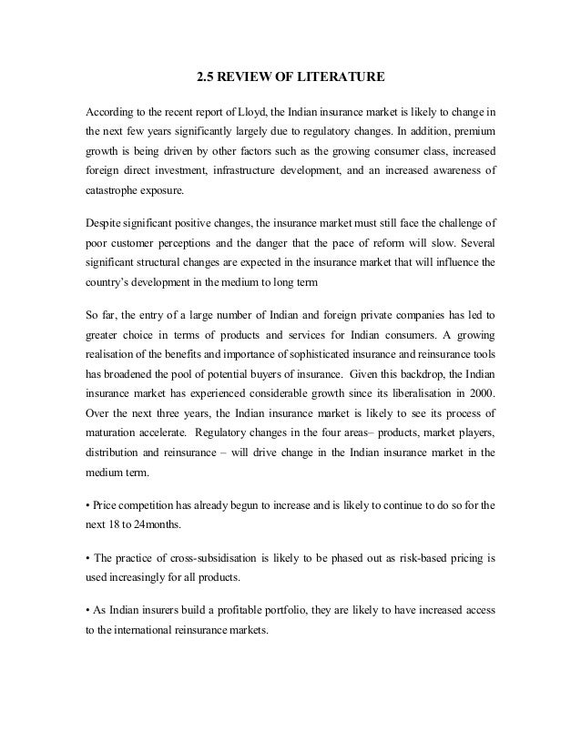 example of literature review for project report