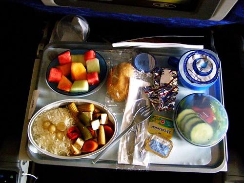 british airways vegetarian meal review