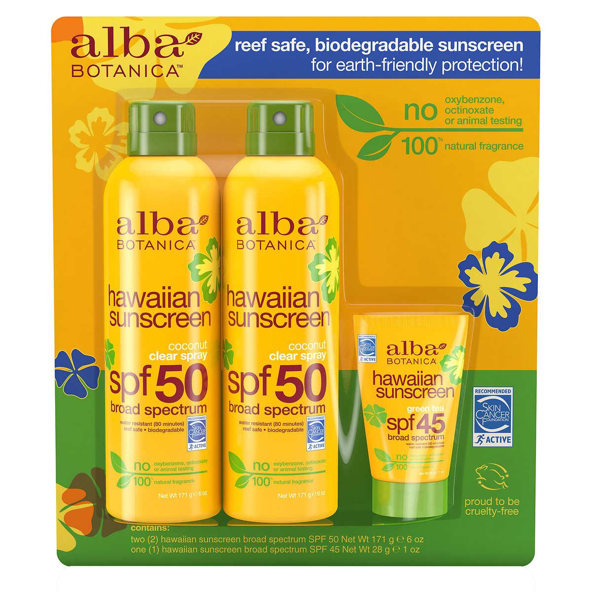 alba botanica hawaiian sunscreen spf 50 reviews