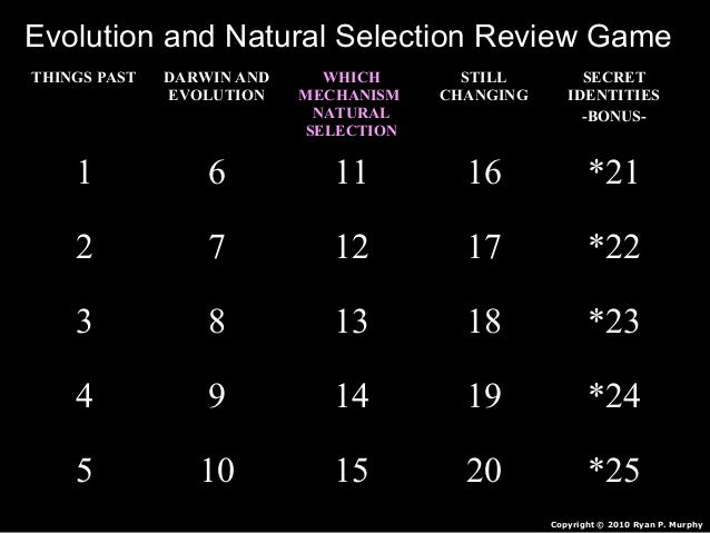 evolution and natural selection review packet answers