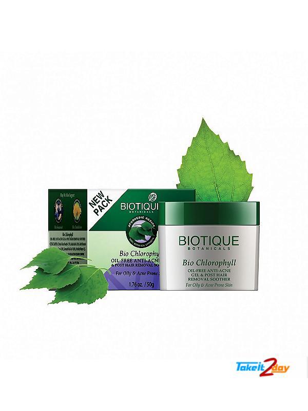 biotique chlorophyll anti acne gel review