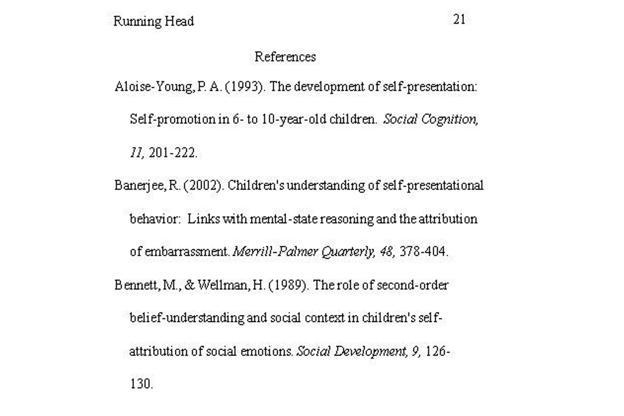free peer reviewed articles on child development